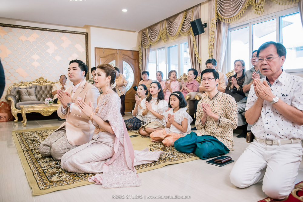 korostudio thai wedding ceremony tuey 46 Wedding at Home Thai Wedding Ceremony Supawee and Pangpichet | งานแต่งงานพิธีไทยคุณเตย และคุณวี