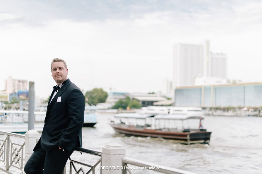 Cruise Wedding in Bangkok Thailand on Chao Phraya River for Christina and Austin